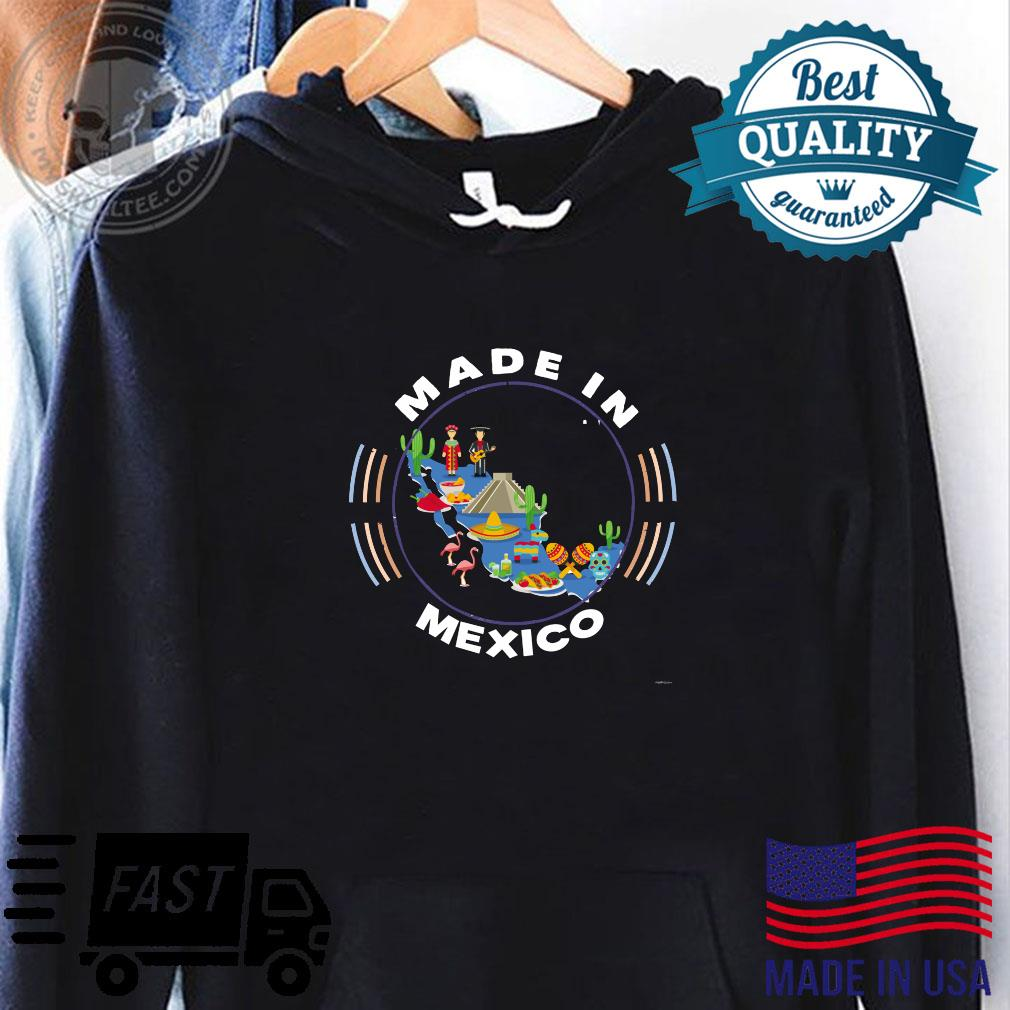 Made in Mexico Vintage Mexico Map by ASJ Shirt hoodie