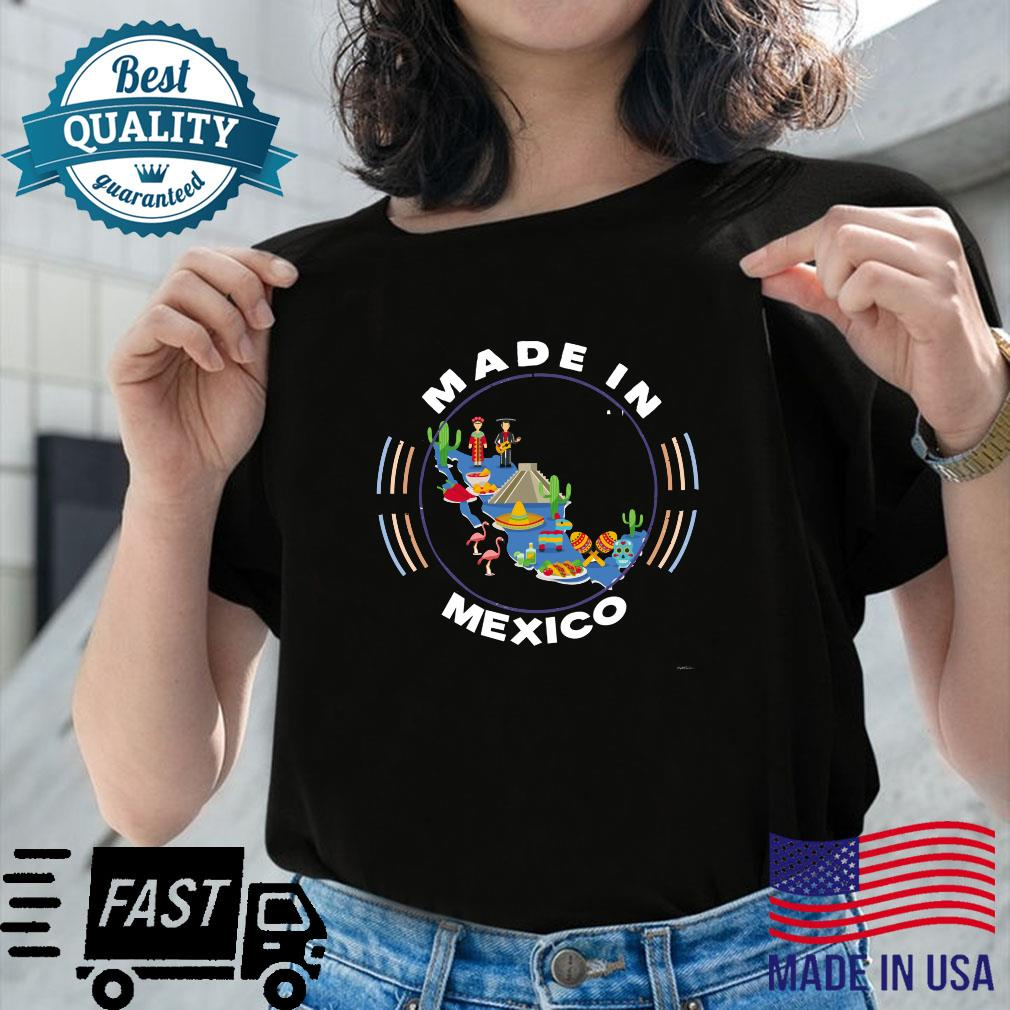 Made in Mexico Vintage Mexico Map by ASJ Shirt ladies tee
