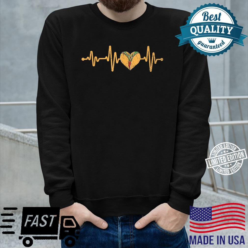 Mexican Cuisine Heartbeat Taqueria Tacos Mexico Foodie Taco Shirt long sleeved